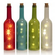 LED Glass Bottle With Stars 7