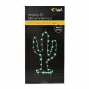LED Silhouette Cactus Wall Light & Keyholder 4