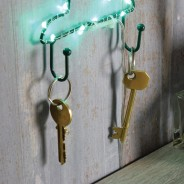LED Silhouette Cactus Wall Light & Keyholder 2