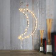 LED Silhouette White Moon Wall Light 1