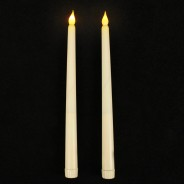 27.5cm LED Taper Candles (2 Pack) 2