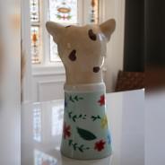 Large Leopard Head Vase 5