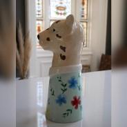 Large Leopard Head Vase 4