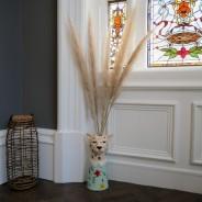 Large Leopard Head Vase 2