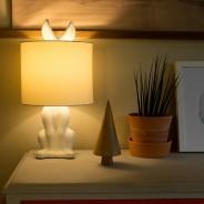 Lepus Matt Ceramic Hare Table Lamp  8 White