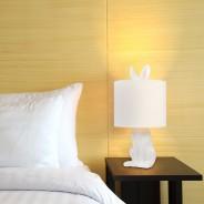 Lepus Matt Ceramic Hare Table Lamp  3 White