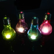 Hanging Light Bulb Shape Tealight Holder (Single) 1