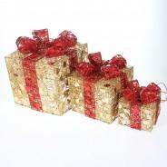 Light Up Christmas Parcels (3 Pack) 2