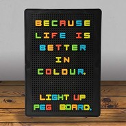Light Up Peg Board 2 Light Up Peg Board w/ Coloured Letters