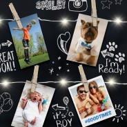 Light Up Photo Clip Chalk Board 2