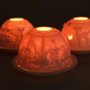 Lithophane Dome Tealight Holders 3