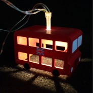 Battery Operated London Bus Fairy Lights 3