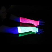 Long UV Fishnet Gloves 1