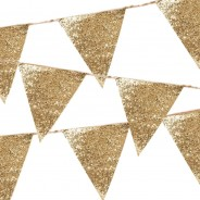 Luxe Gold Glitter Bunting 1