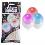 Magic-Glo Balloons White Colour Change (3 Pack) 3