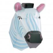 Make Your Own Zebra Head Paper Light 3