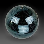 30cm Black Mirror Ball 2