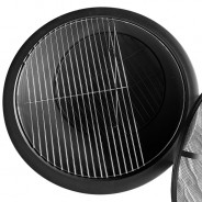Meridian Fire Pit & BBQ Grill With Rain Cover by Fire & Dine  12 Free BBQ Grill & Poker
