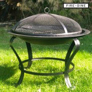 Meridian Fire Pit & BBQ Grill With Rain Cover by Fire & Dine  5