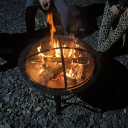 Meridian Fire Pit & BBQ Grill With Rain Cover by Fire & Dine  9