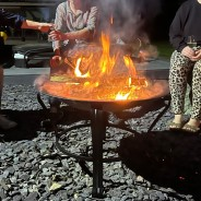 Meridian Fire Pit & BBQ Grill With Rain Cover by Fire & Dine  2