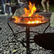 Meridian Fire Pit & BBQ Grill With Rain Cover by Fire & Dine  15