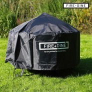 Meridian Fire Pit & BBQ Grill With Rain Cover by Fire & Dine  3 Free Rainproof Cover