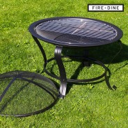 Meridian Fire Pit & BBQ Grill With Rain Cover by Fire & Dine  14