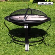 Meridian Fire Pit & BBQ Grill With Rain Cover by Fire & Dine  13