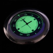 Midnight Pebble Glow Clock Coaster (Single) 2 Aviator Style