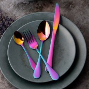 Mikasa Iridescent Stainless Steel Cutlery Set (16 Pieces) 1