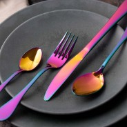 Mikasa Iridescent Stainless Steel Cutlery Set (16 Pieces) 6