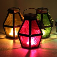 Mini Recycled Iron & Glass Lantern LT170 1