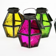 Mini Recycled Iron & Glass Lantern LT170 2