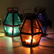 Mini Recycled Iron & Glass Lantern LT170 3