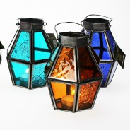 Mini Recycled Iron & Glass Lantern LT170 4