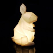 Mini USB/Battery Origami Animal Light 4 White Rabbit