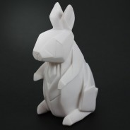 Mini USB/Battery Origami Animal Light 7 White Rabbit