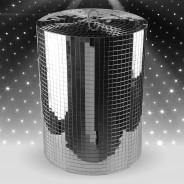 Silver Disco Mirror Cylinder 2 XL Mirror Cylinder (30cm diameter x 40cm H)