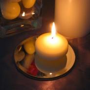 Mirrored Candle Plates 1 13cm Diameter