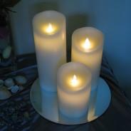 Mirrored Candle Plates 2 25cm Diameter