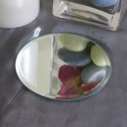 Mirrored Candle Plates 3 13cm Diameter