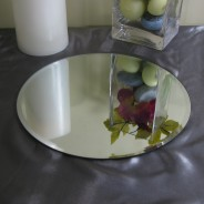 Mirrored Candle Plates 4 25cm Diameter