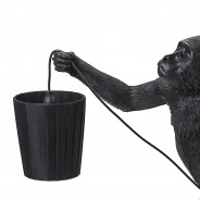 Seletti Monkey Lamp Shade - Black 4 Monkey Lamp Sold Separately