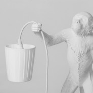 Seletti Monkey Lamp Shade - White 3 Monkey Lamp Sold Separately