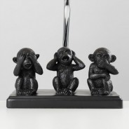 Three Wise Monkeys Table Lamp 2