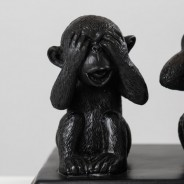 Three Wise Monkeys Table Lamp 3
