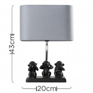 Three Wise Monkeys Table Lamp 6