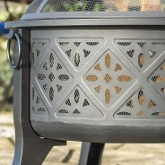Moresque Deep Steel Fire Pit with Grill 4