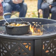 Moresque Deep Steel Fire Pit with Grill 2